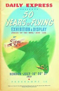 Daily Express: 50 Years of Flying Exhibition & Display 1951 at Hendon/ Programme