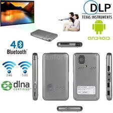 M6 Android 4.4.2 Mini DLP Full HD LED Projector+Smart TV Box 16GB WiFi Bluetooth