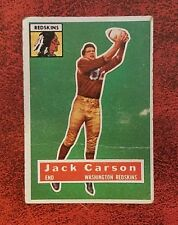 1956 Jack Carson Redskins Topps Football Card #1