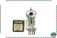 Ecc83/12ax7a mazda silver chrome tube, valve, röhre, nos, nib, tested