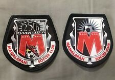 VINTAGE SOCCER TWO PATCH LOT 1) Manalapan Club NJ. 1) Manalapan 25th Anniversary