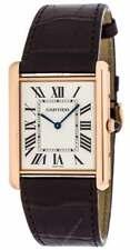 Cartier W1560017 Tank Louis Mechanical 18k PinkGold Men Leather Watch New In Box