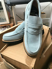 VLV ROCKABILLY NEW BLUE SUEDE SHOES LOAFERS JIVE TEDDY BOY PUNK