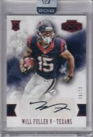 Will Fuller V 2016 Panini Honors Red Uncirculated Rc Auto Sp #ed 56/75