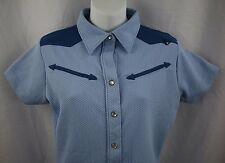 Pearl Izumi Western Pearl Snap Women's Short Sleeve Tops & Blouses Size M