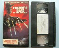 Freddy's Dead: Final Nightmare & Rambling Rose ~ 1991 VHS SCREENER Movie TESTED