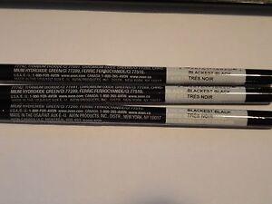 3 AVON glimmerstick BLACKEST BLACK eyeliner LOT OF 3 NEW discontinued