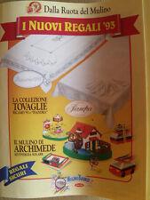 Scheda Raccolta Punti Mulino Bianco 1993 con regali [AF22]