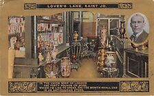 ST JOSEPH MISSOURI LOVERS LANE~ANTIQUARIAN STORE POSTCARD 1910s