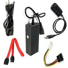 USB 2.0 to IDE SATA S-ATA 2.5 3.5 Hard Drive HD HDD Converter Adapter Cable Set