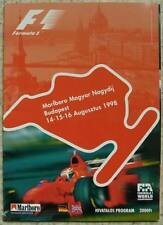 HUNGARIAN GRAND PRIX FORMULA ONE F1 1998 BUDAPEST Official Programme