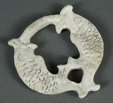 Calcified Jade Fish Carving Amulet