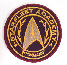 "Star Trek- Starfleet Academy Command Logo 3.5"" Gold Patch-FREE S&H (STPA-SFC-17)"