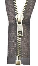 YKK Reißverschluss von 50-100 cm 5mm metall geschwärzt schwarz 1 Weg teilbar