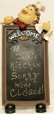 Chef Blackboard Kitchen Stand Message board