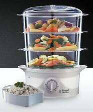 Russell Hobbs Three Tier Food Steamer 21140 FOR OVERSEAS USE 220 VOLT ONLY