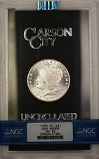 1878-CC GSA Hoard Morgan Silver Dollar $1 Coin NGC MS-62 Semi PL (A)