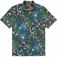 Tori Richard Mens Shirt Green Pink Size XL Tropical Rousseau Print $98 181