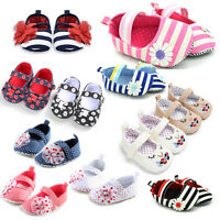 Toddler Infant Baby Girl Flower Shoes Crib Shoes Size Newborn 0-18 Months