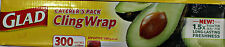 Glad Cling Wrap 300 Metre x 33 cm Food Wrap Film Pack Caterers Commercial New