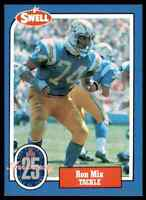 1988 Hall of Fame BLUE #85 Ron Mix RARE San Diego Chargers / USC Trojans
