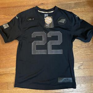 Carolina Panthers Christian McCaffrey #22 Nike 2020 Salute To Service NFL Jersey