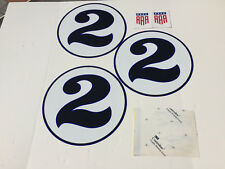 Dan Gurney Saleen Ford GT Mustang Blue Roundels White Eagle Promo Graphics Kit