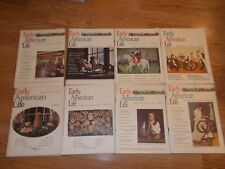 Early American Life Magazine LOT of (8) Colonial History Pioneers 1975-1979