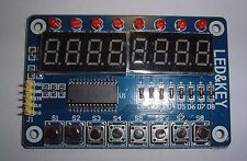 8- 7 Segment LED Plus 8 led + 8 button TM1638 Key Display, for Arduino, UK stock