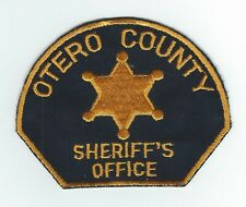 VINTAGE OTERO COUNTY, COLORADO SHERIFF'S OFFICE (CHEESE CLOTH BACK) patch
