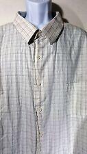 Croft Barrow size 22 37 / 38 Royal Oxford Button Front Shirt 100% Cotton L/S
