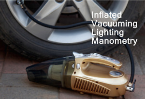 12V Auto Car Vacuum Cleaner Dust Duster Inflated Portable Mini Handheld Lighting