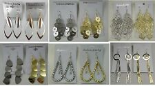 Wholesale Jewelry lots 10 pairs Gold Silver Plated Fashion Dangle Earrings #010