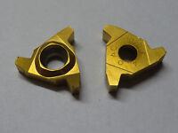2 new SANDVIK Coromant L166.0L-22AC01F040 1020 Carbide Threading Inserts