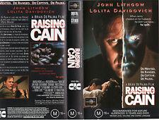 RAISING CAIN - John Lithgow A Brian De Palma film - VHS -PAL -NEW -Never played!