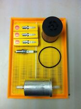 VAUXHALL CORSA C 1.0 00-06 FULL SERVICE KIT AIR OIL FUEL FILTER AND 3 PLUGS 1089