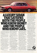 1981 BMW 733i - Satisfy - Classic Vintage Advertisement Ad D42