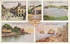 Vintage POSTCARD c1945 Five Wonders of the ISLE OF WIGHT Cowes