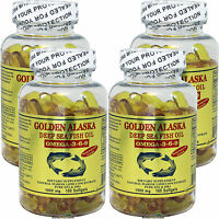 4 x 100 SG Golden Alaska Deep Sea 1000 MG Fish Oil Omega-3,6,9 EPA DHA, FRESH