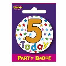 "BIRTHDAY BADGE  /""1 today/"" FREEPOST  UK PARTY"