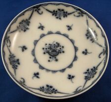 Antique 18thC Nyon Porcelain Blue & White Saucer Porzellan Untertasse Swiss