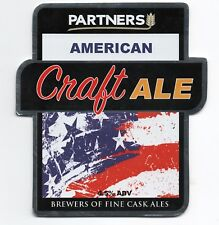 Beer pump clip front. Partners, AMERICAN CRAFT ALE.