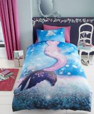 CHILDRENS MERMAID Water Bubbles Duvet Cover with Pillow Case Single Bedding Set