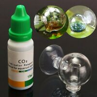 Aquatic Aquarium CO2 Glass Drop Checker PH Long Term Monitor Fish Tank Test
