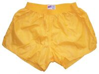 Gold Shiny Nylon Shorts by Soffe - Size Large