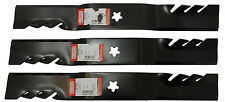 "Oregon Lawn Mower Gator Mulcher Blades for 54"" Deck Extra Thick Heavy Duty 3 Set"