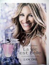 PUBLICITE-ADVERTISING :  LANCOME La Vie est Belle  2015 Julia Roberts