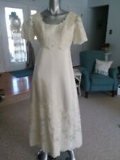 Vintage Ivory Wedding Dress With Detachable Train