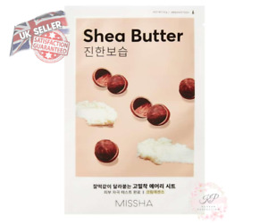 Missha Airy Fit Sheet Face Mask Shea Butter UK Seller! Korea Cosmetic Beauty