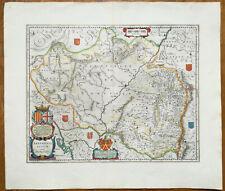 Blaeu Original Engraved Map of Spain Aragon Arragonia Regnum  1640